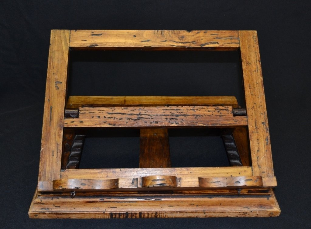 Distressed Adjustable Wood Book Stand - 5