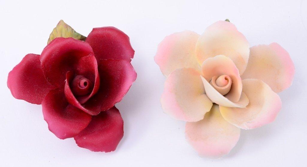 Ceramic Flowers on Driftwood Plus - 2