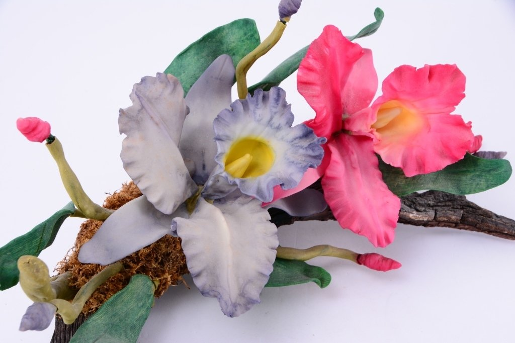Ceramic Flowers on Driftwood Plus - 3