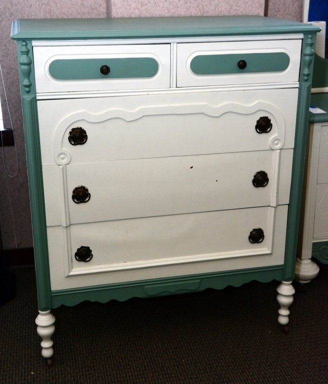 1930s Painted 5-Drawer Chest - 2