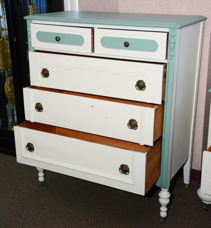1930s Painted 5-Drawer Chest - 3