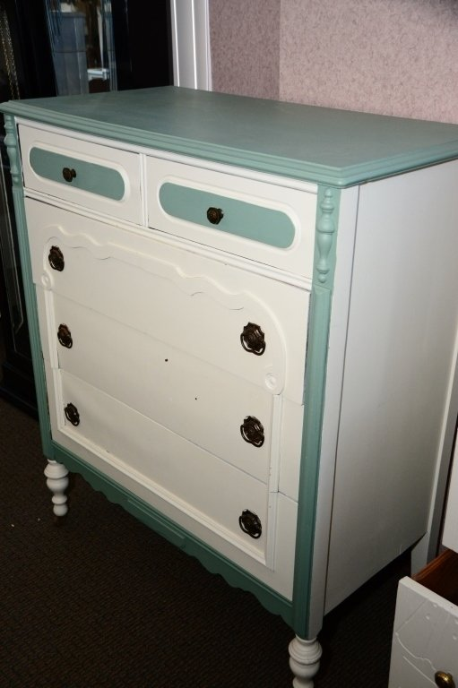 1930s Painted 5-Drawer Chest - 4