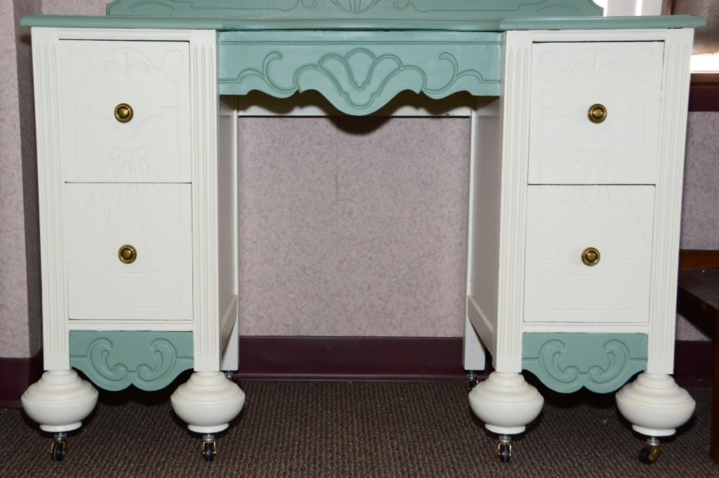 1930s Painted Vanity and Mirror - 4