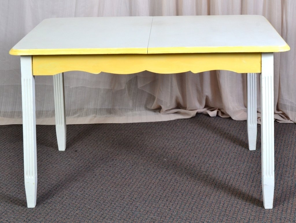Cream and Yellow Table