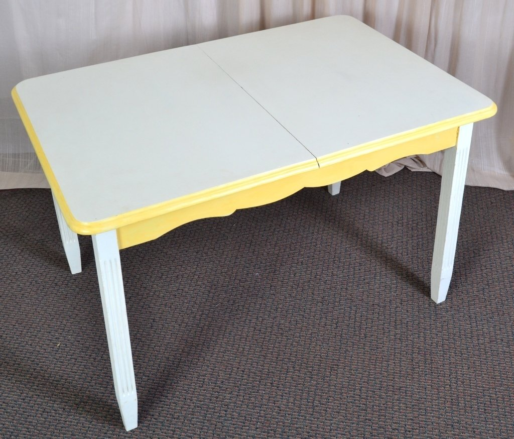 Cream and Yellow Table - 3