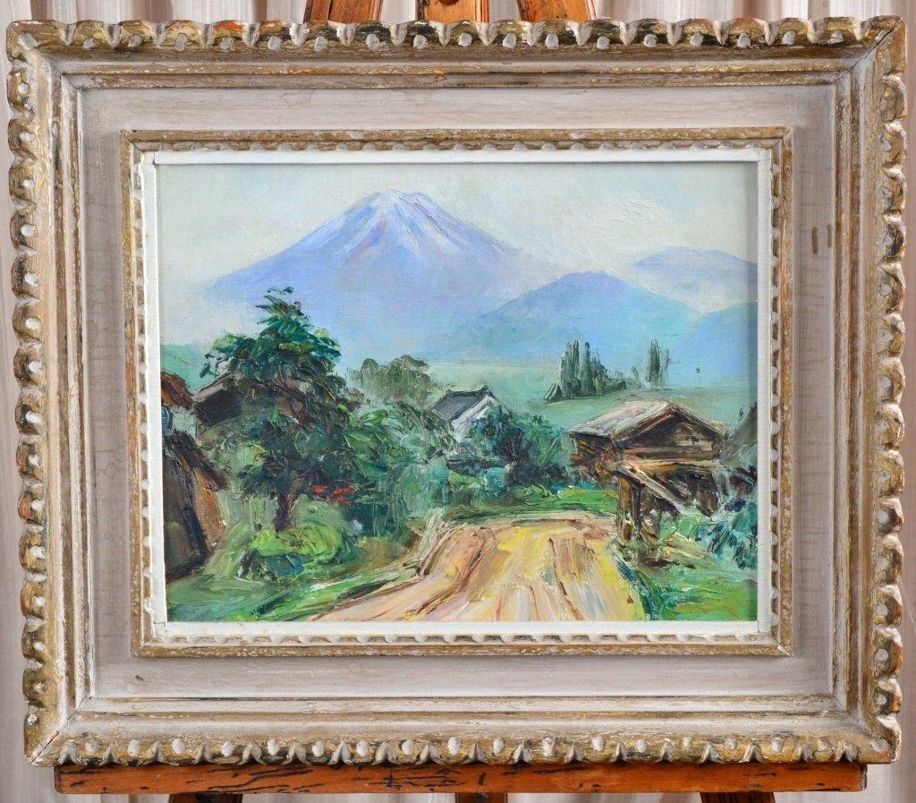 Mountain Scene Painting on Canvas