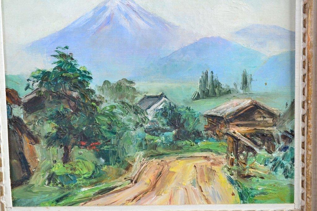 Mountain Scene Painting on Canvas - 2