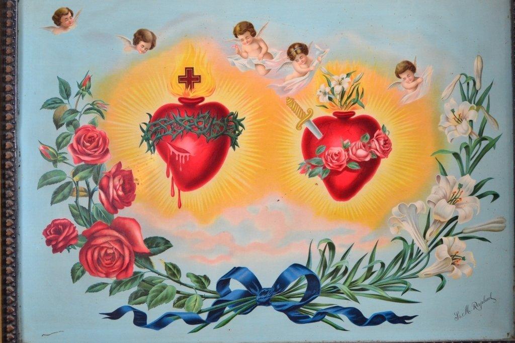 Sacred Heart on Metal by Sr. M. Raphael - 2