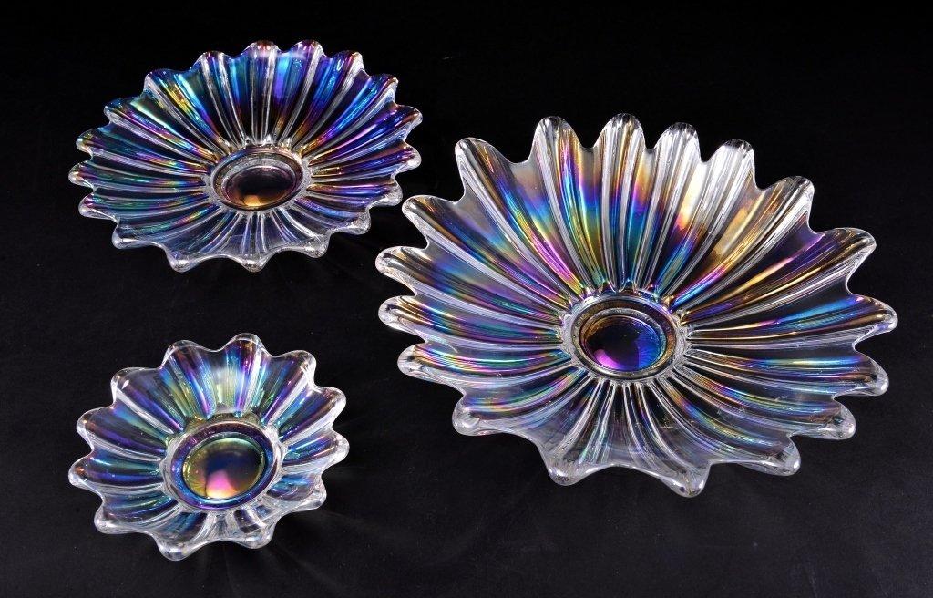 Nesting Iridescent Finger Shape Bowls