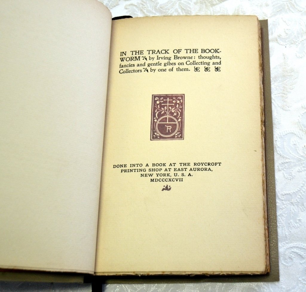 Irving Browne's Track of the Book-Worm - 2