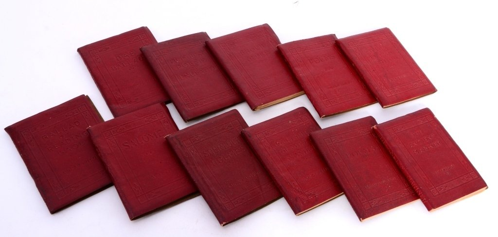 11 Red Volumes Little Leather Library - 3
