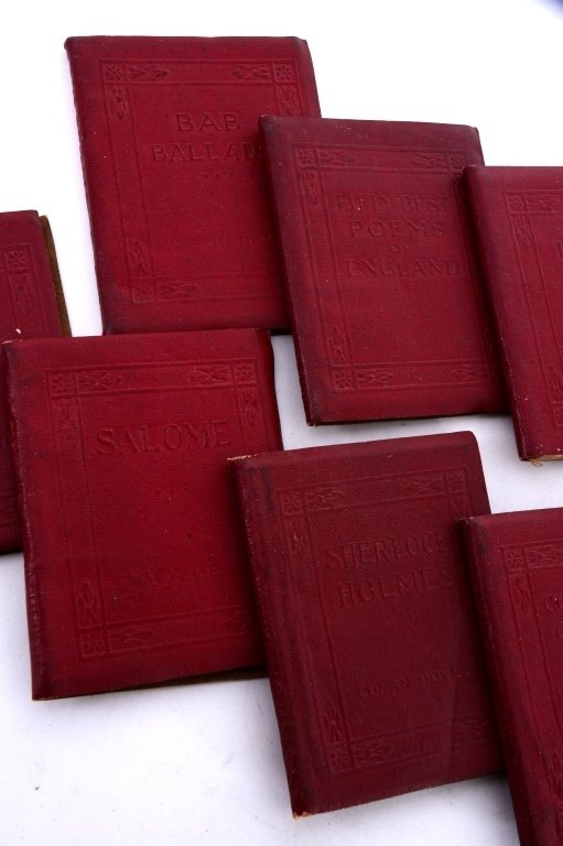 11 Red Volumes Little Leather Library - 4