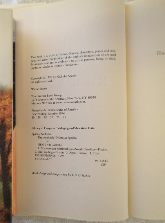 Nicholas Sparks Book Lot - 2