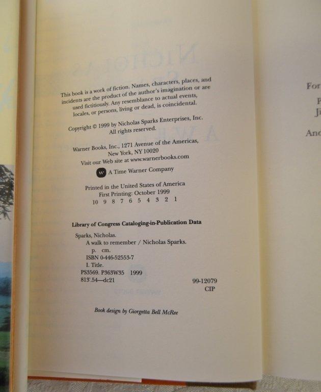 Nicholas Sparks Book Lot - 3