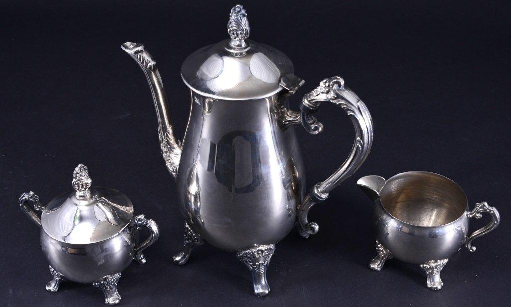 Silverplate Coffee Pot, Creamer, Sugar and More - 4