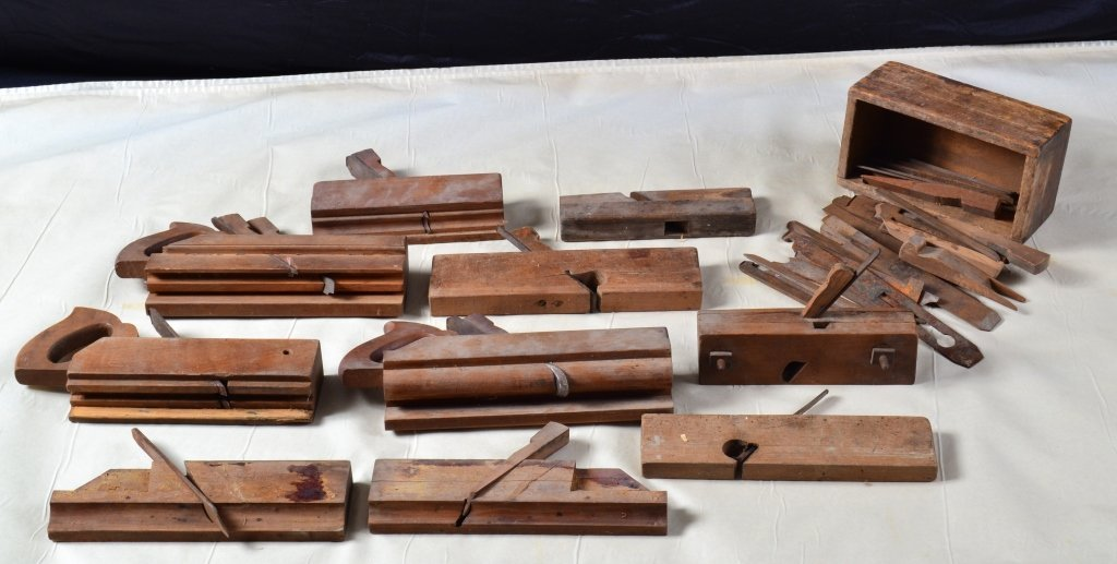 Ten Antique Molding Planes