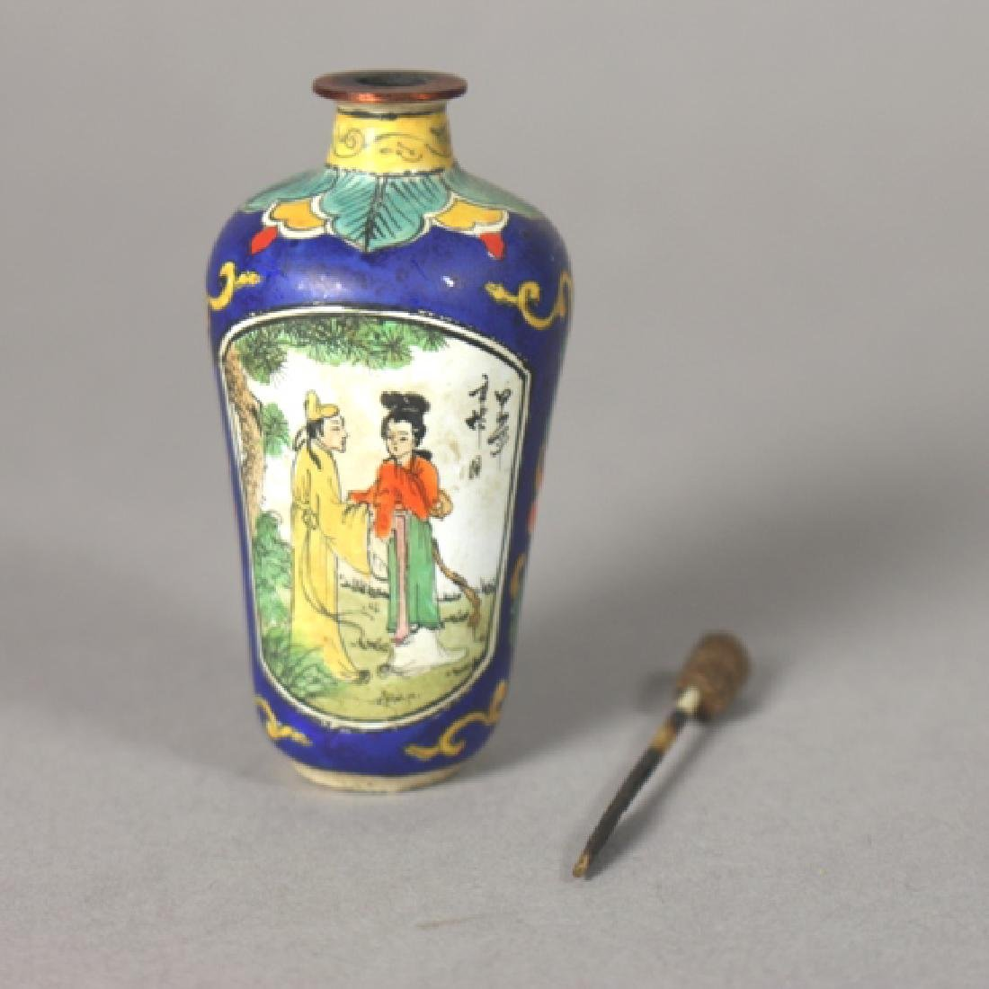 19th Century Chinese Enamel on Copper Snuff Bottle