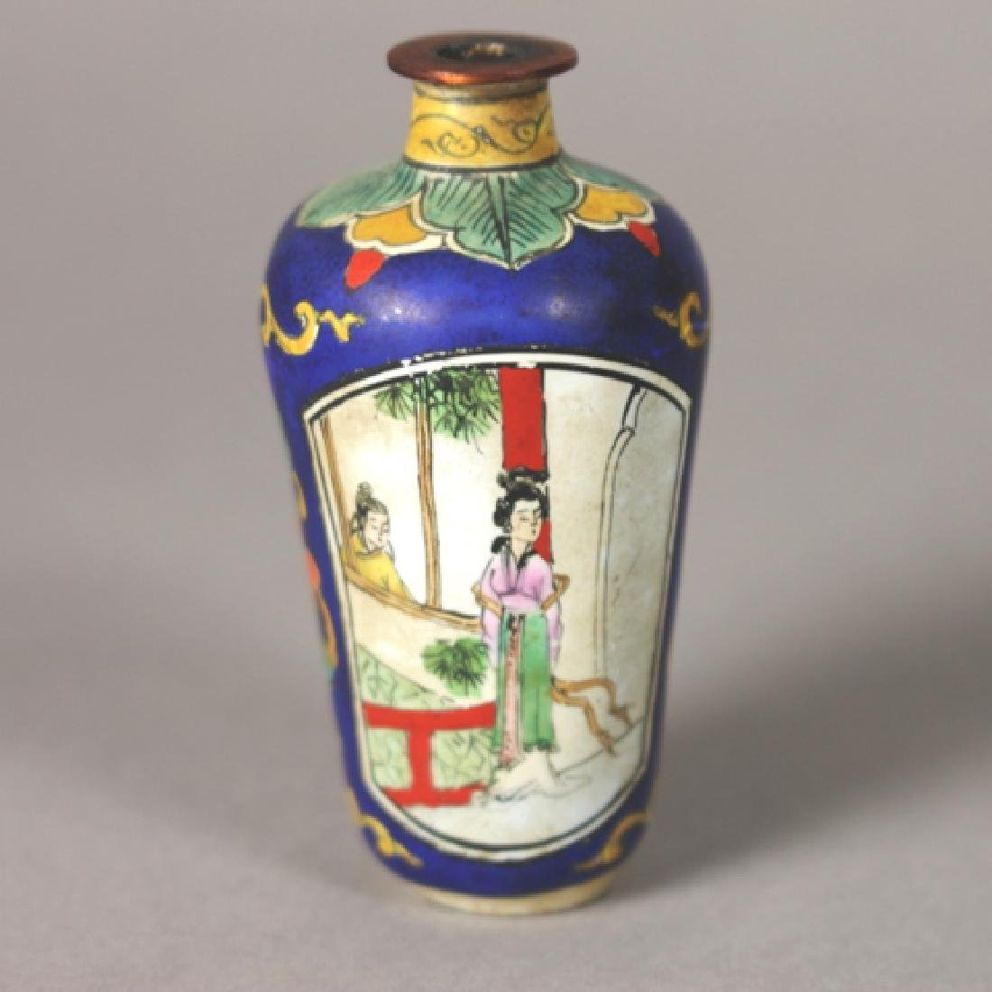 19th Century Chinese Enamel on Copper Snuff Bottle - 2