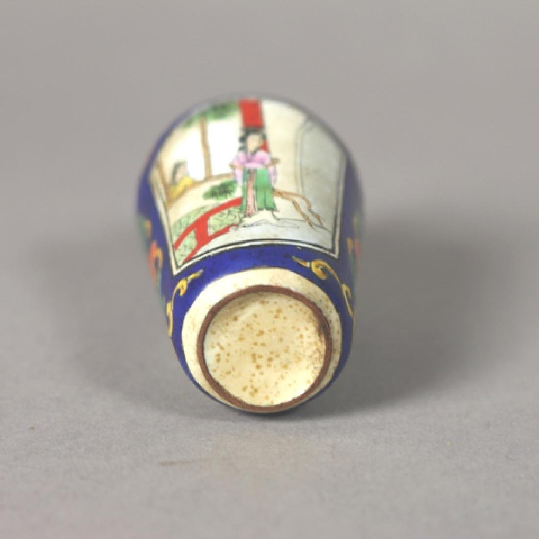 19th Century Chinese Enamel on Copper Snuff Bottle - 3