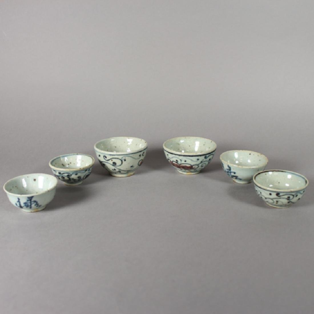 Set of Six Antique Japanese Ironstone Cups