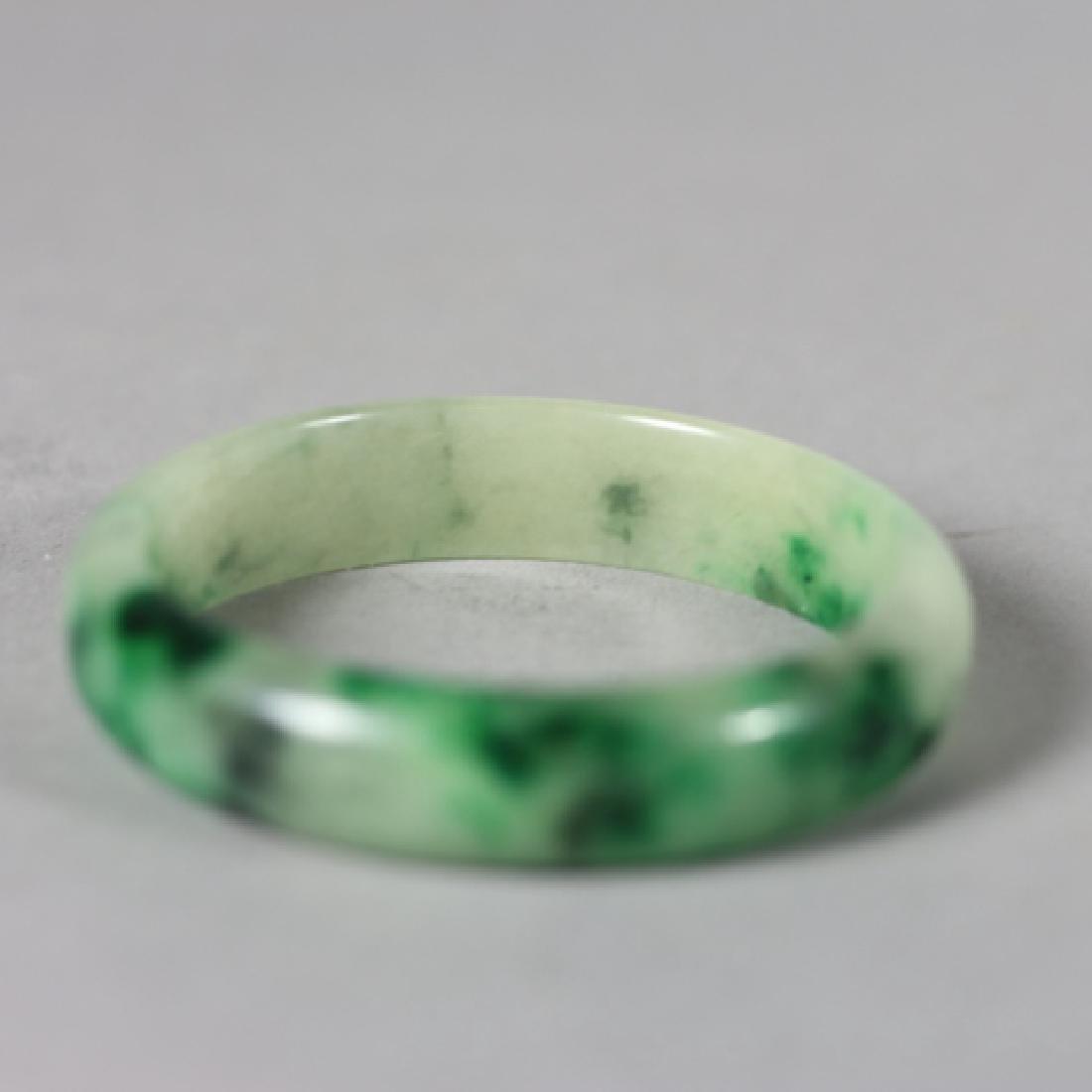 Three 20th Century Jade Bangles and Napkin Ring - 5