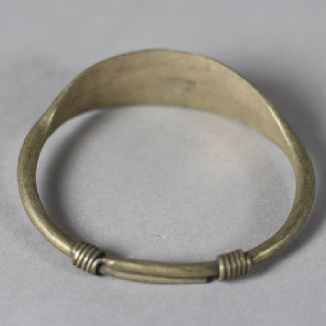 Four Antique Chinese Brass Bangles - 3