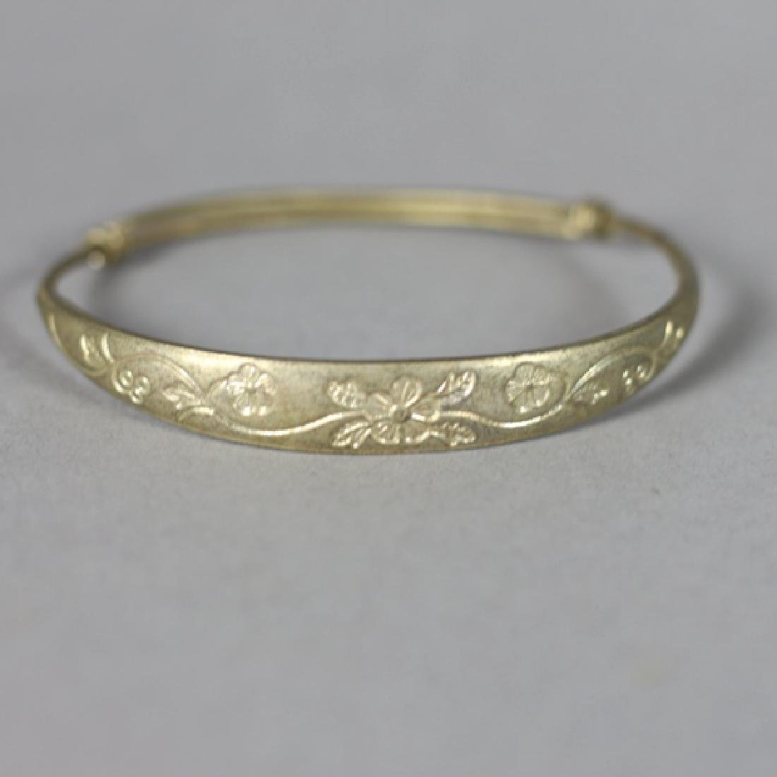 Four Antique Chinese Brass Bangles - 4