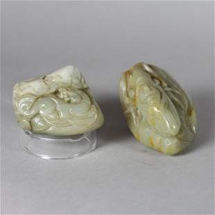 Chinese Carved Jade Boulders