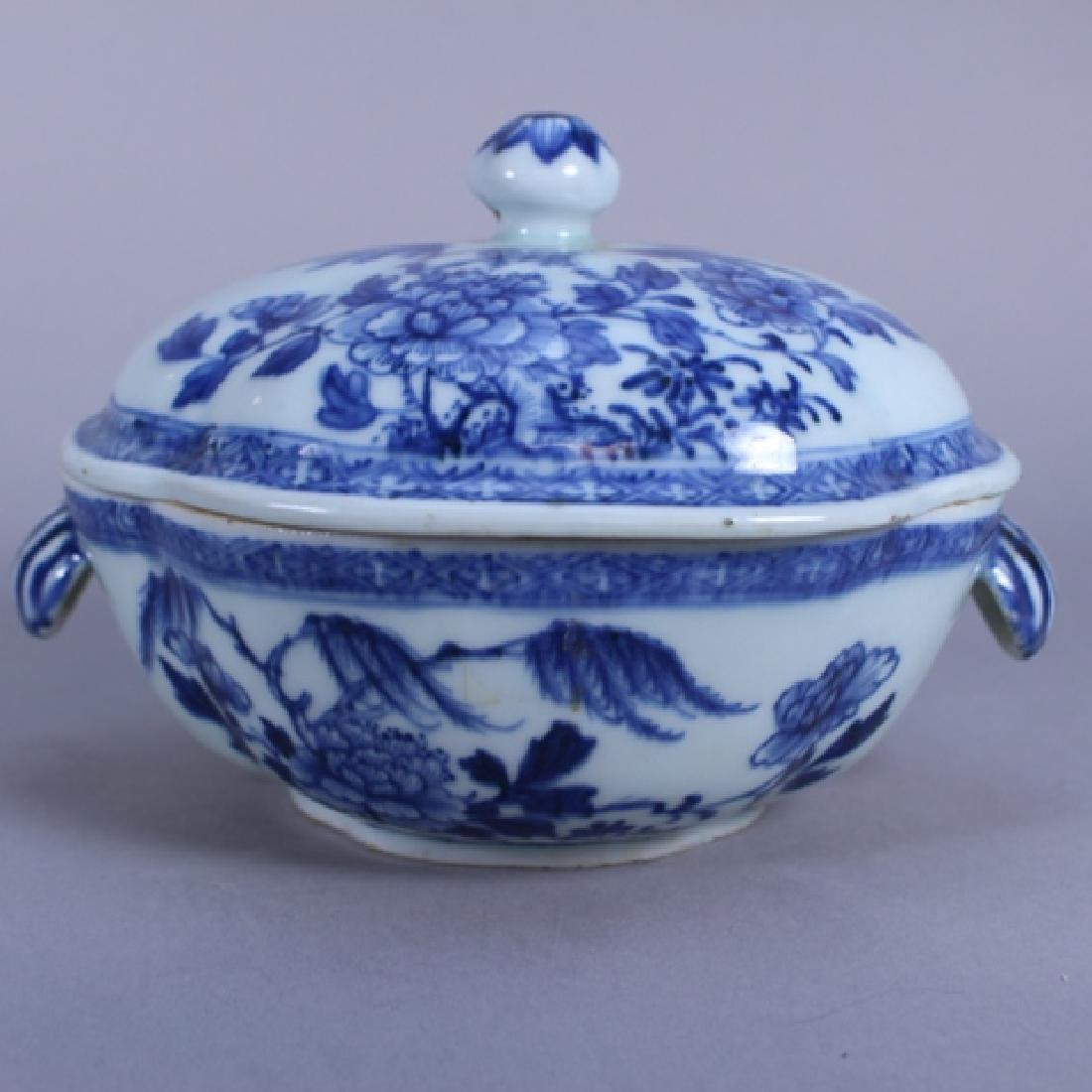 18th C. Chinese Porcelain Covered Bowl & Tray - 3
