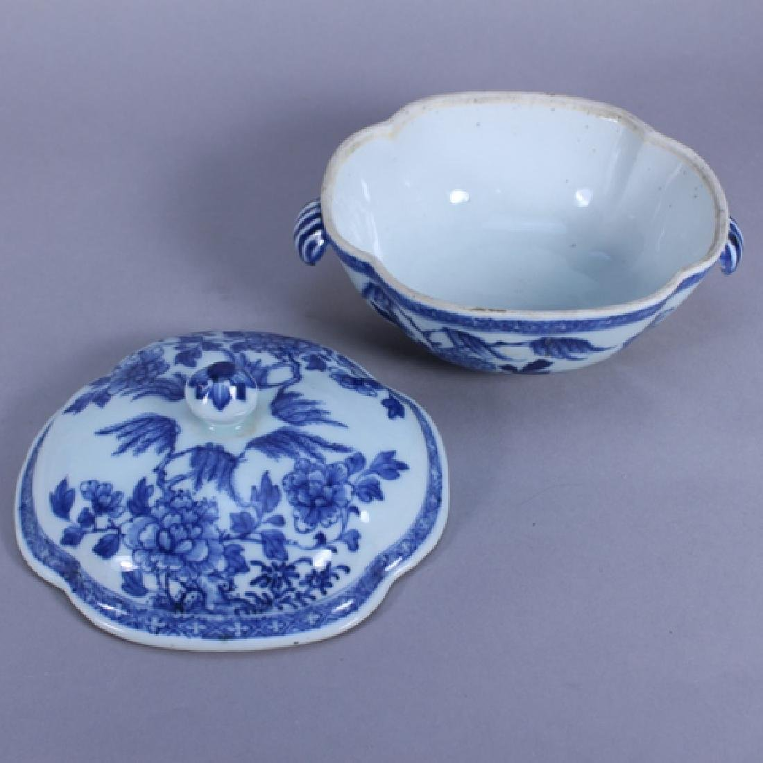 18th C. Chinese Porcelain Covered Bowl & Tray - 4
