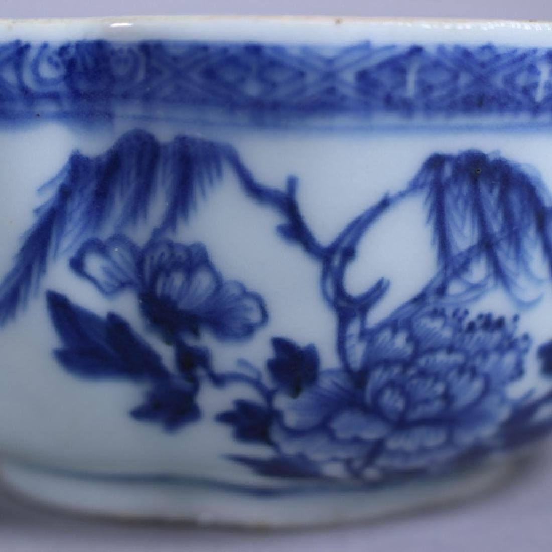 18th C. Chinese Porcelain Covered Bowl & Tray - 5
