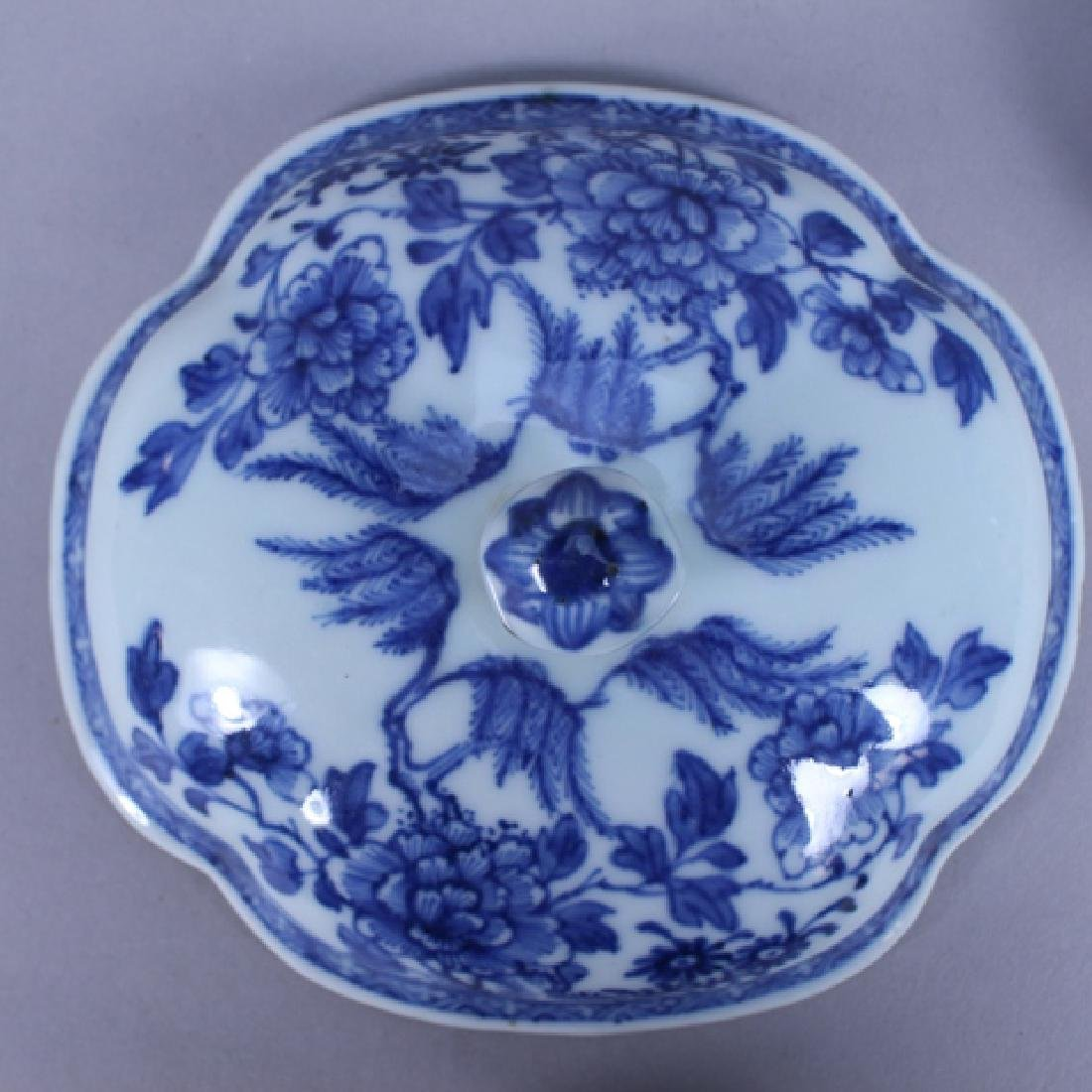 18th C. Chinese Porcelain Covered Bowl & Tray - 6