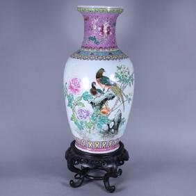 Chinese Export Vase Converted to Lamp