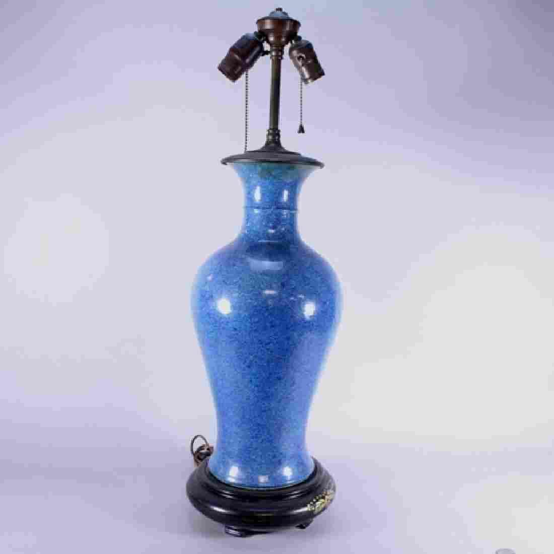 Oriental Style Sang de Beouf Lamp