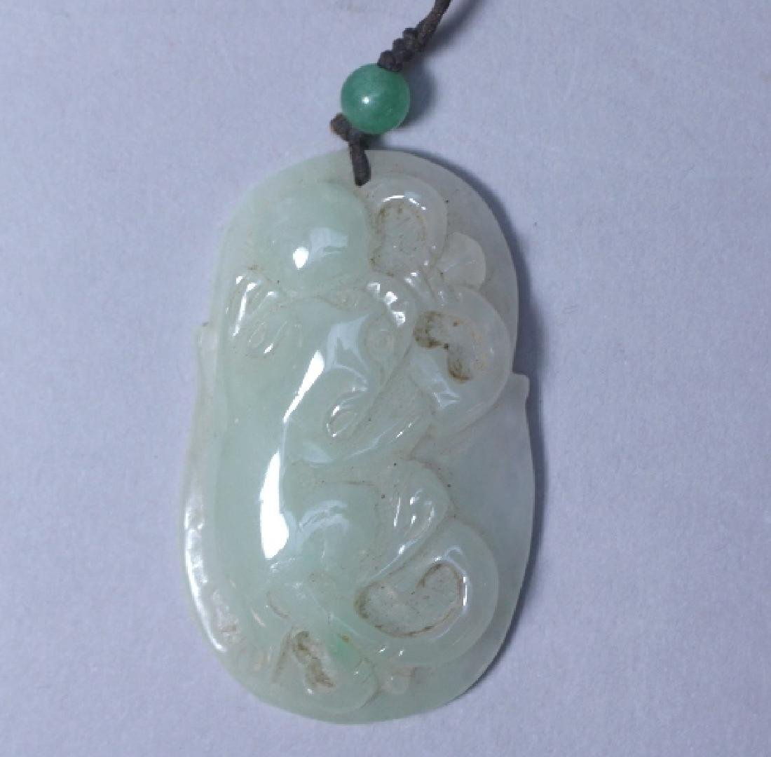 Collection Of Three Chinese White Jade Pendants - 5