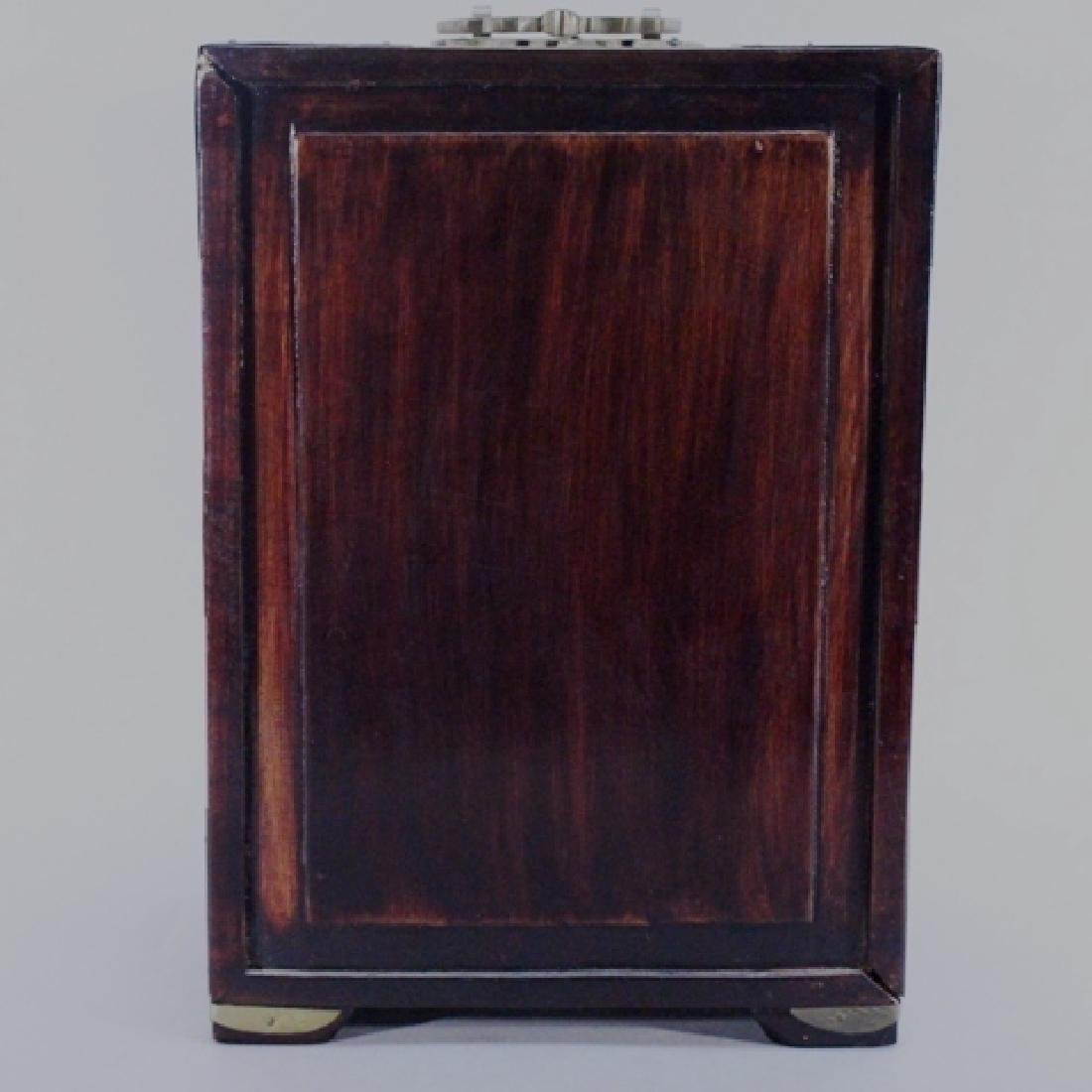 Chinese Rosewood Jewelry Box with Bone Accents - 6