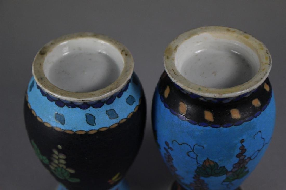 Cloisonne And Enameled Decorated Vases - 10