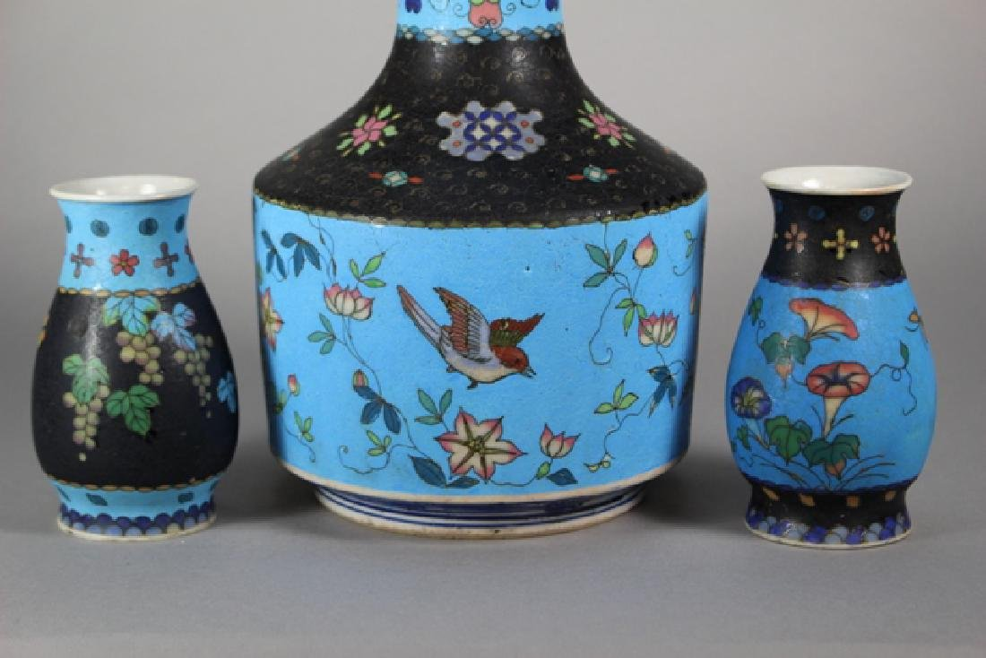 Cloisonne And Enameled Decorated Vases - 3