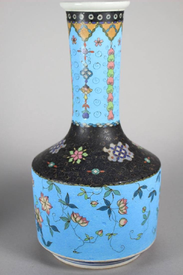 Cloisonne And Enameled Decorated Vases - 4