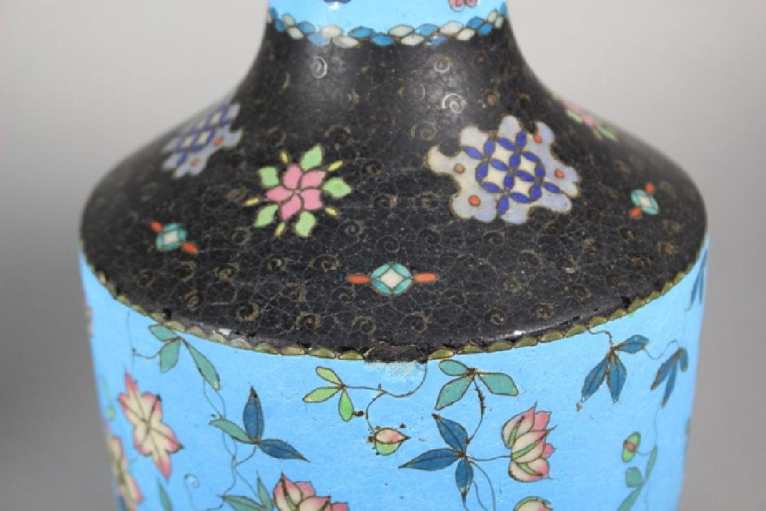 Cloisonne And Enameled Decorated Vases - 5