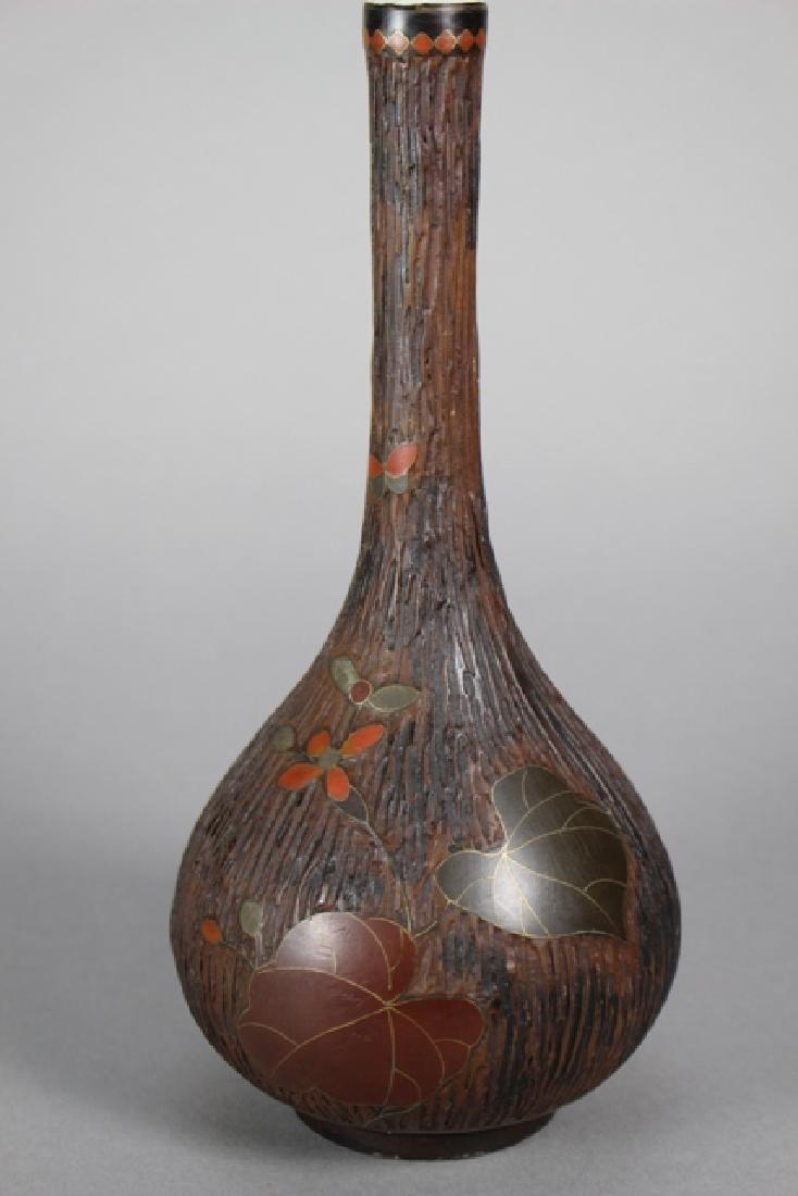 Chinese Porcelain & Tree Bark Cloisonne Vases - 10