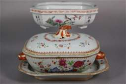 Chinese Export Famille Rose Sauce Tureen