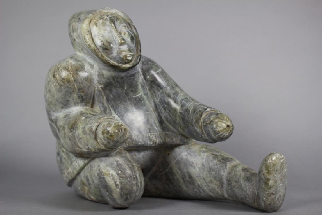 Inuit Carved Hardstone Figure - 3