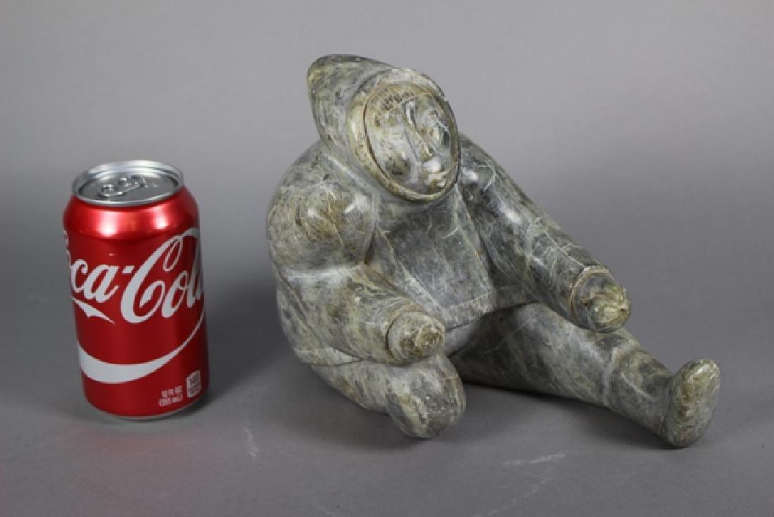 Inuit Carved Hardstone Figure - 6