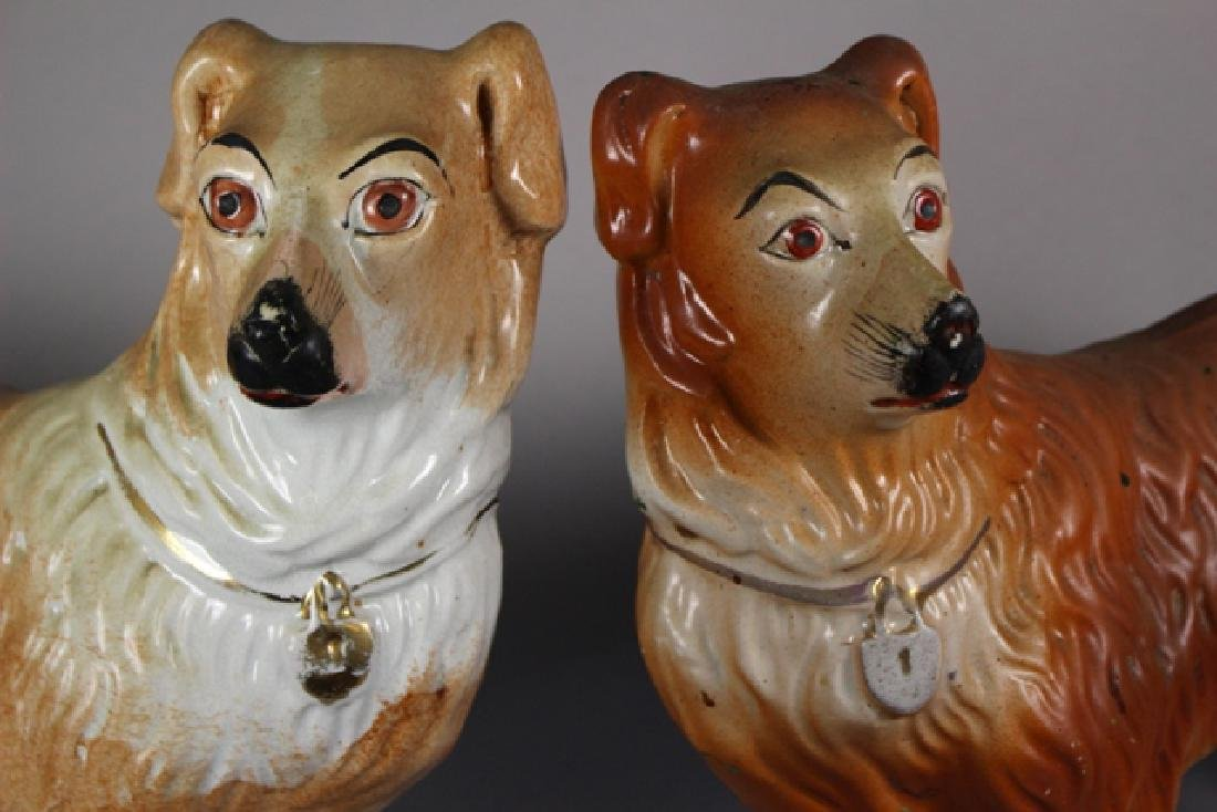 Pair of Staffordshire Standing Collie Dogs - 2