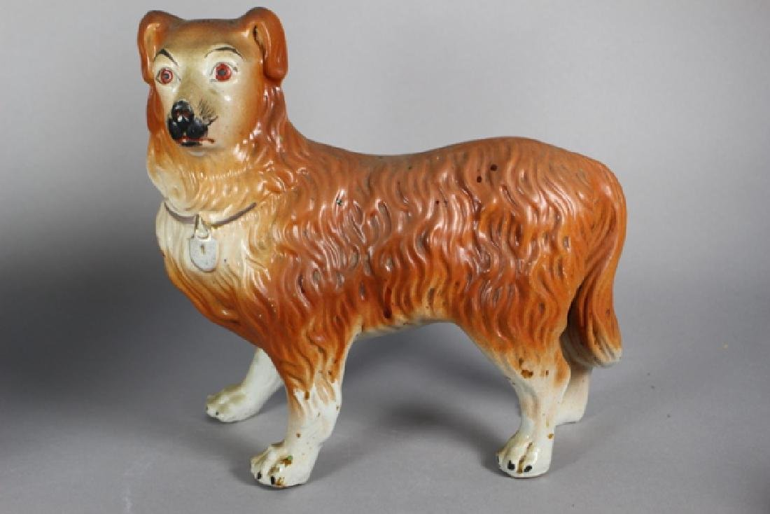 Pair of Staffordshire Standing Collie Dogs - 5