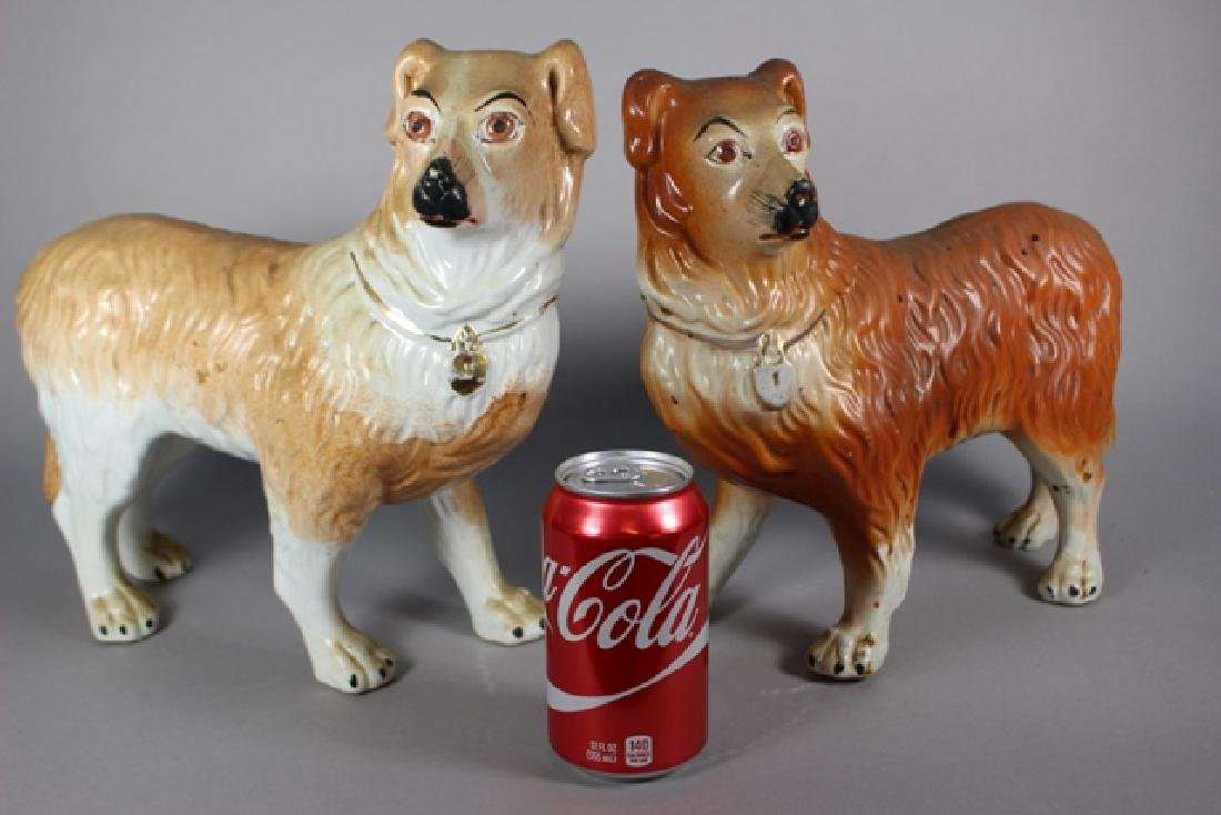 Pair of Staffordshire Standing Collie Dogs - 7