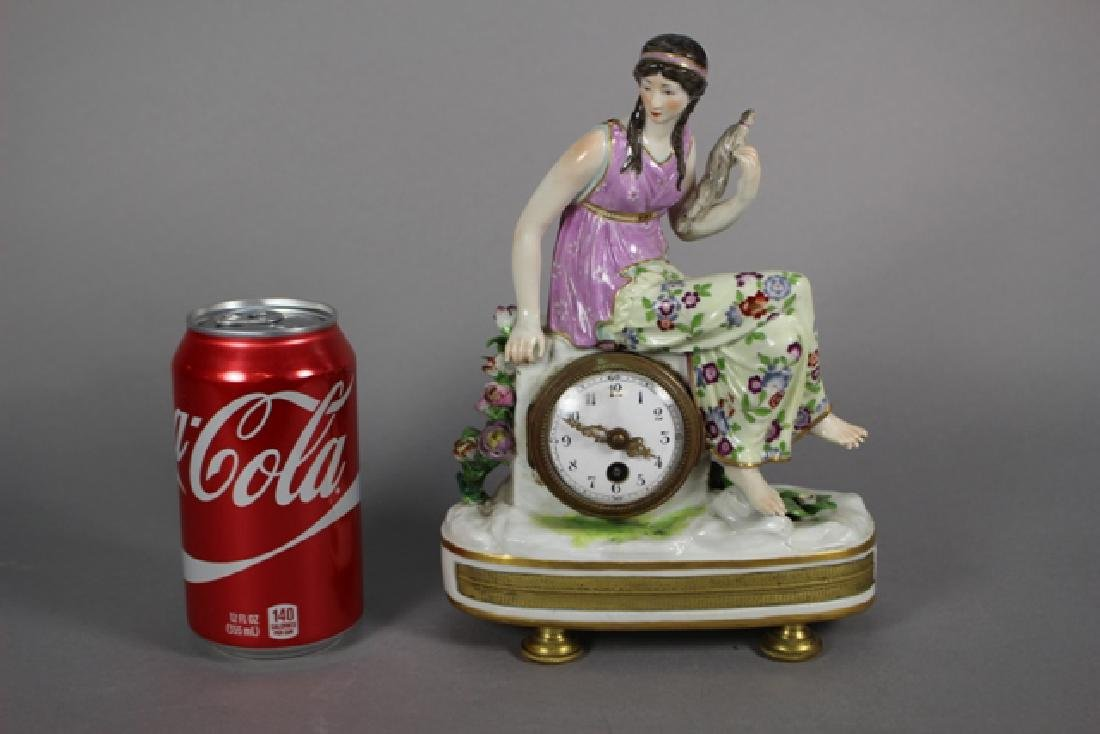 Meissen Porcelain Figural Shelf Clock ca. 1900 - 10