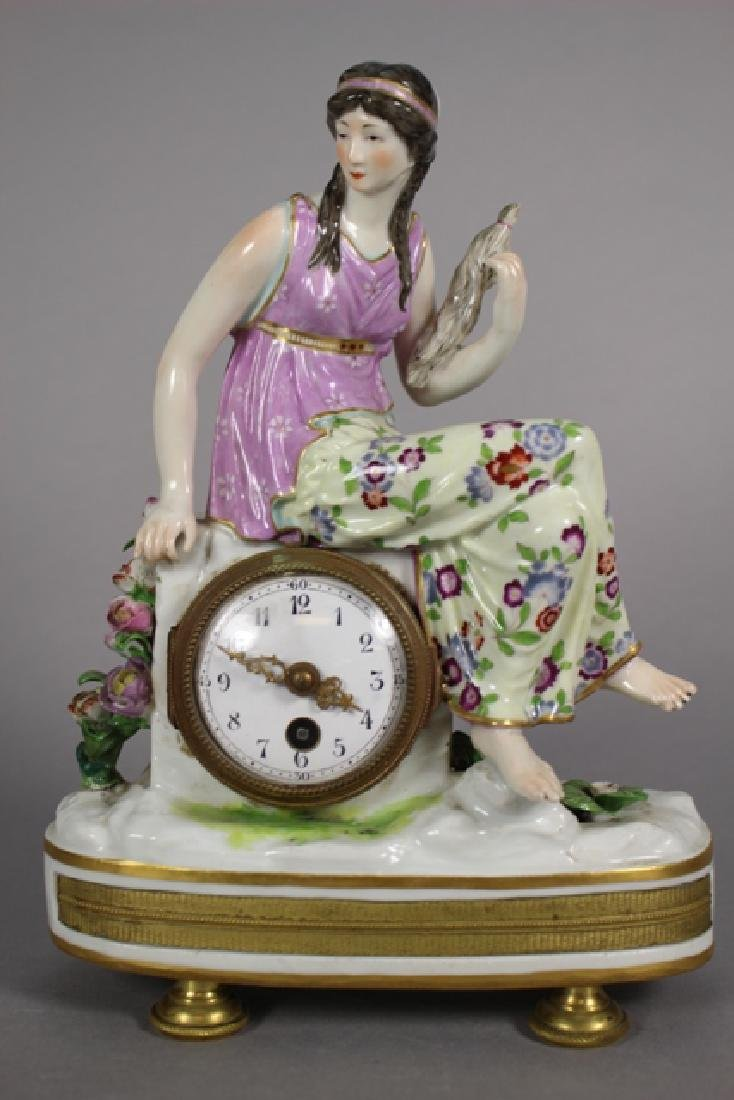 Meissen Porcelain Figural Shelf Clock ca. 1900