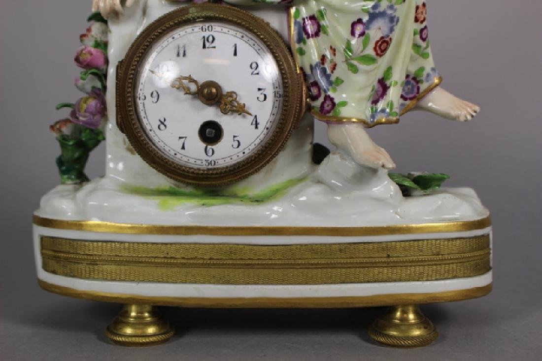 Meissen Porcelain Figural Shelf Clock ca. 1900 - 2